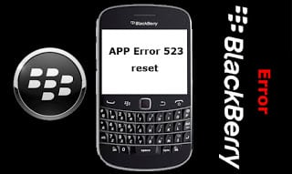 Blackberry App Error 523