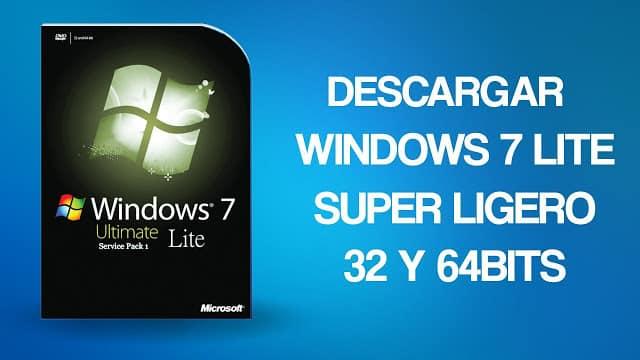windows 7 ultimate versión lite